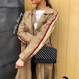 NWT  Zara trench coat with trims